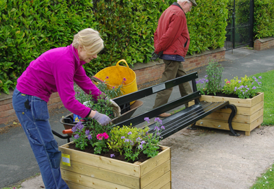 Berkswell Society install and maintain flower planters in urban settings